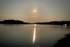 夜の朱鞠内湖