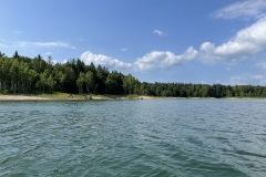 朱鞠内湖のカヤック