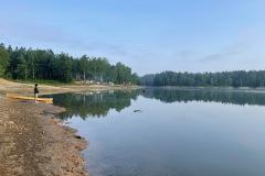 早朝の朱鞠内湖